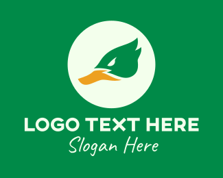 Poultry - Green Mallard Duck logo design