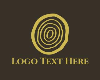 Bark - Wood Log Cut logo design
