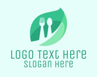 Leaf & Cutlery Logo