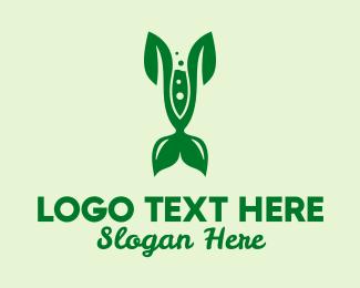 Test Tube - Leaf Organic Chemistry  logo design