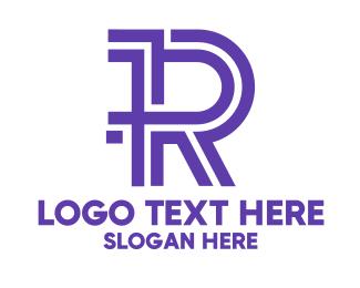 Magazine - Purple Noir R logo design