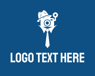 Photography - Detective Cameraman logo design