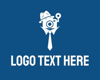 Detective - Detective Cameraman logo design
