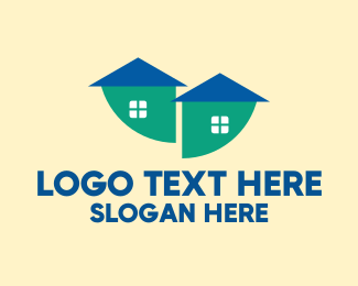 Duplex - Modern Double House logo design