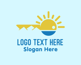Sightseeing - Landscape Key logo design