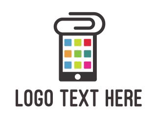 Paper Clip - Clip App logo design
