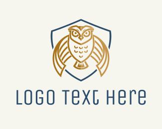 Education - Owl Crest Mascot logo design