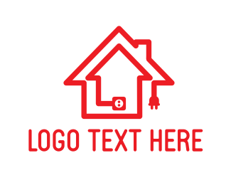 Cable - House Plug logo design