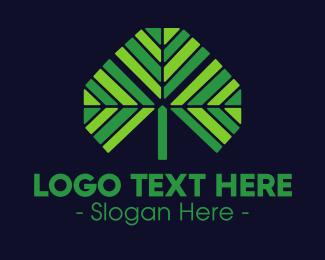 Palm - Green Tropical Palm logo design