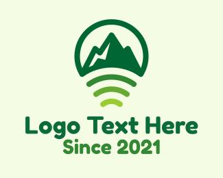 Signal - Mountain Location Signal logo design