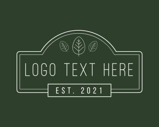 Minimalist Signage  Wordmark Logo