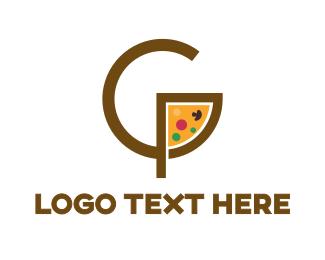 Food Chain - Pizza Slice G logo design