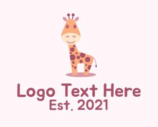 Animal - Cute Giraffe Mascot logo design