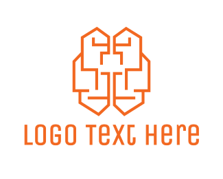 Circuit - Brain Circuit logo design