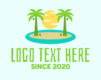 Trip - Beach Island Resort logo design