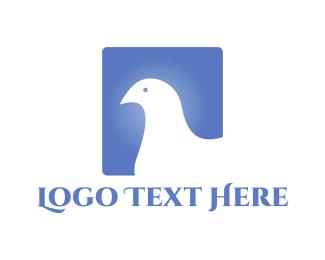 Peace - White Bird logo design
