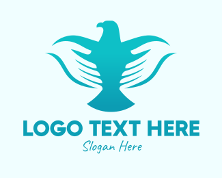 Hand Washing - Blue Dove Hands  logo design