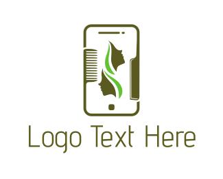 Smartphone - Beauty Application logo design