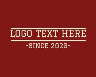Prelim - Varsity College Text logo design