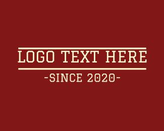 Varsity - Varsity College Text logo design