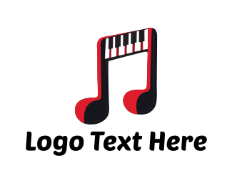 Music Note - Piano Music logo design