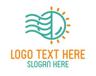 Tentacles - Jellyfish Sun logo design