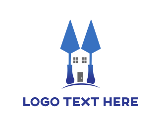 Renovation - Blue Spatula Home logo design
