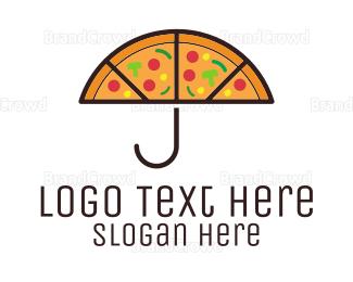 Umbrella - Umbrella & Pizza logo design
