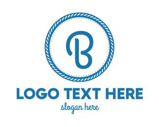 Shipyard - Nautical B Circle logo design