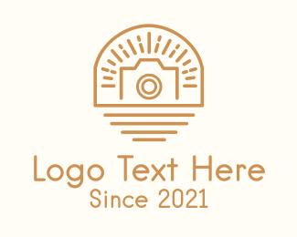 Event Photography - Sunburst Camera Badge logo design