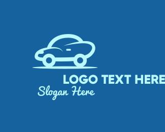 Carwash - Small Blue Car logo design