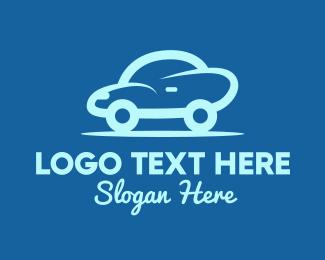Taxi - Small Blue Car logo design