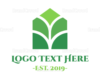 Herbal - Green Plant House logo design