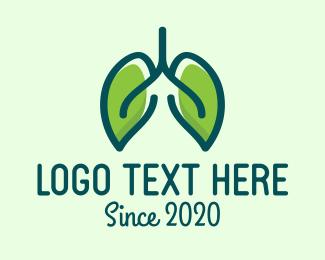Inhale - Green Eco Lungs logo design