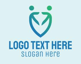 Together - Human People Shield logo design