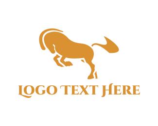 Golden - Golden Horse logo design