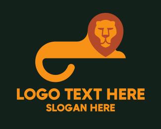 History - Orange Lion Tail logo design