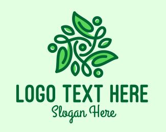 Tea Store - Elegant Natural Leaves logo design