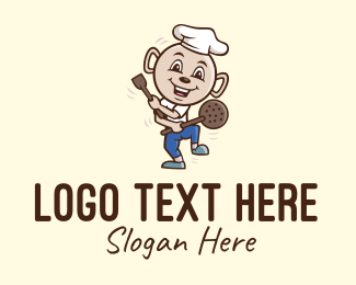 Cheesemonger - Cooking Chef Cartoon logo design
