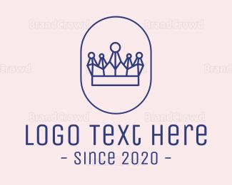 Tiara - Abstract Crown Emblem logo design