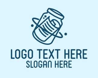 Editing - Blue Message Jar logo design