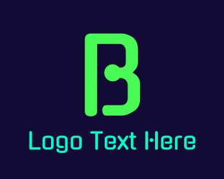 """""""Green Neon Letter B"""" by BrandCrowd"""