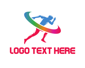 Track And Field - Running Sprint logo design