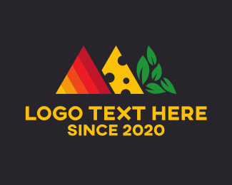 Keto - Food Triangles logo design
