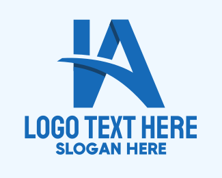 Virtual Assistant - Blue V A Letters logo design