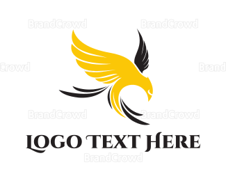 Whiskey - Yellow Eagle logo design