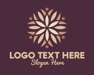 Heal - Brown Flower Petals logo design