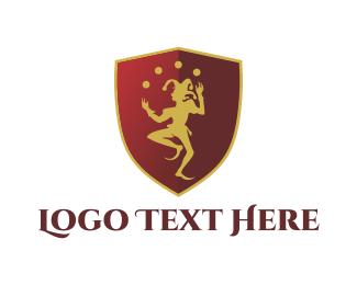 Theatre - Harlequin Shield logo design