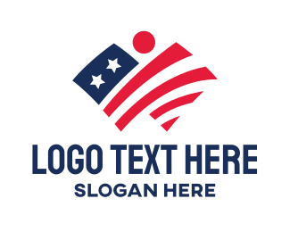 Liberian - Patriotic Flag logo design