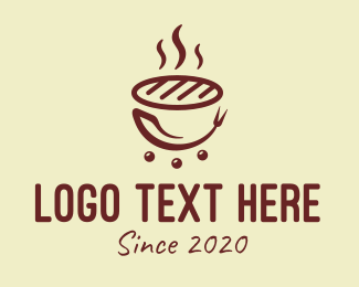 Casual Dining - Hot Barbecue Grill logo design